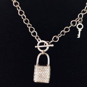 Jewelry - Lock and key necklace with toggle closure